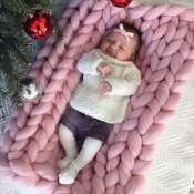 Плед детский из толстой пряжи