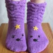 "Вязаные носочки спицами ""Пупырка"""