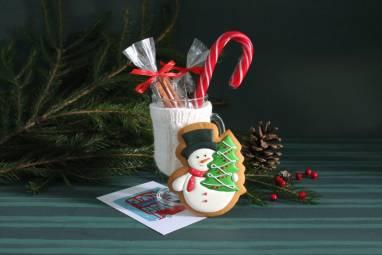Пряник Снежинка ручной работы