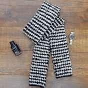 Мужской тёплый вязаный шарф