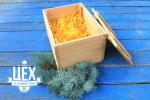 подарок с пледом в деревянной коробке 1705