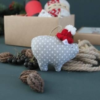 Игрушка новогодняя на елку Свинка