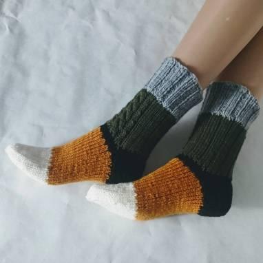 """Носки -домашняя обувь """"Мозаика""""  ручной работы"""