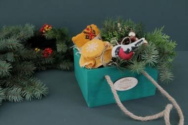 Уютный подарок к Новому году ручной работы