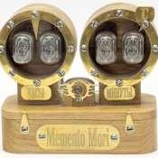 Ламповые часы в стиле стимпанк