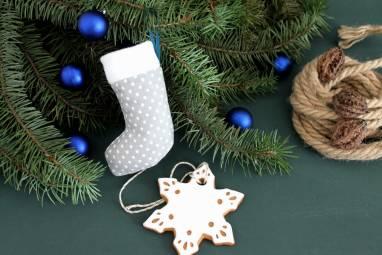 Недорогой новогодний подарок с пряником ручной работы