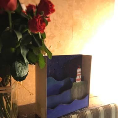 Ночник с маяком ручной работы