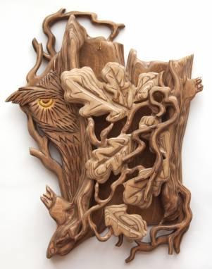 Деревянная ключница настенная. ручной работы
