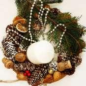 Венок декоративный на стол