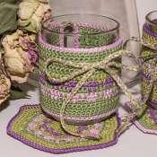 Вязанные подставки и одёжки для чашек