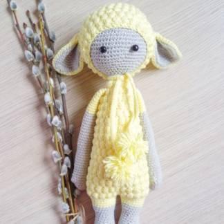 Мягкая игрушка желтая овечка