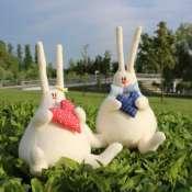 Мягкая кукла-игрушка кролик