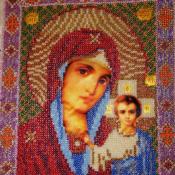 Икона  Бисером Казанская Божья Матерь