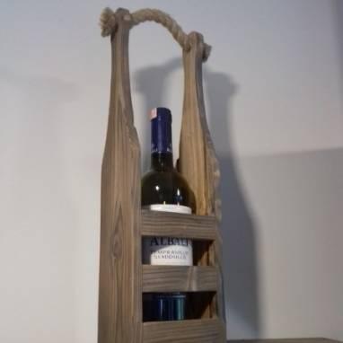 Переноска (корзина) для винной бутылки ручной работы
