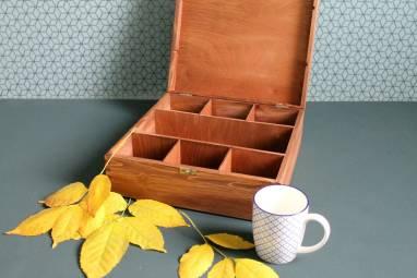 Большая деревянная коробка под алкоголь ручной работы