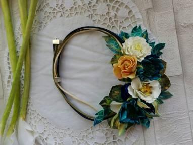 украшение с цветами  Шахерезада ручной работы