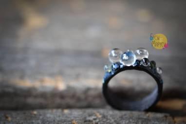 Стеклянное кольцо. ручной работы