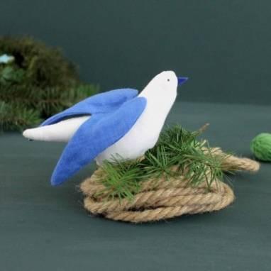 Елочная игрушка Птичка ручной работы