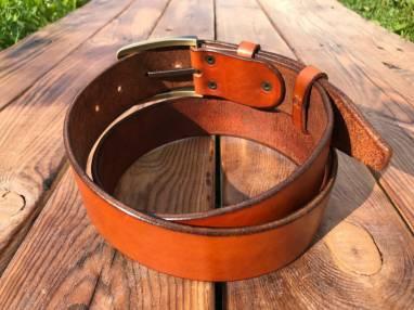 Ремень кожаный ручной работы ручной работы