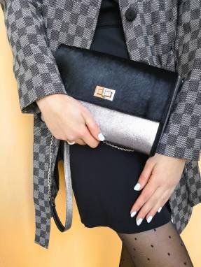 Дизайнерский клатч из натуральной кожи и кожи пони ручной работы