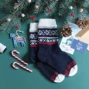 Вязанные носочки с узором ручная вязка
