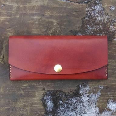 женский кошелек из кожи ручной работы ручной работы
