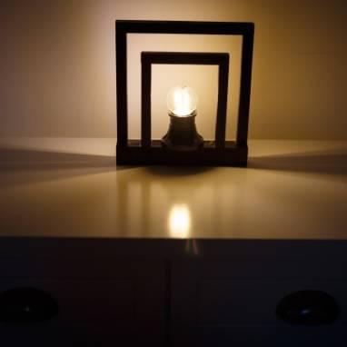 Светильник настольный (черный) ручной работы