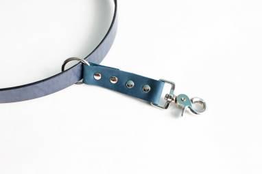 Разгрузка фотографа кожаная на 1 камеру (blue) ручной работы
