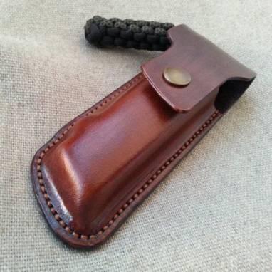 Кожаный чехол для  ножа ручной работы