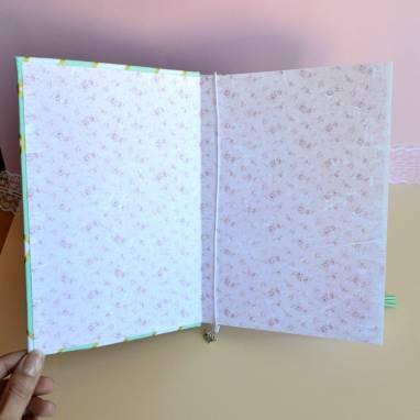 Блокнот-мамины заметки  мятный ручной работы