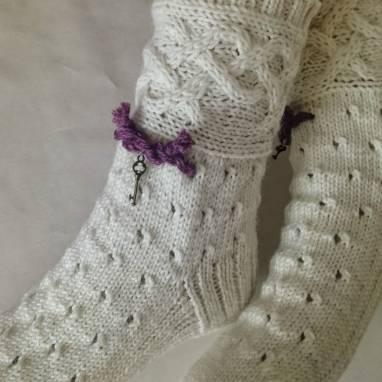 """Носки -домашняя обувь """"Бохо """"  ручной работы"""