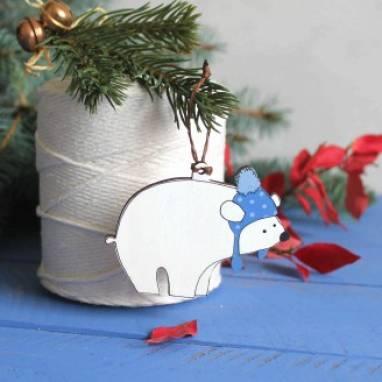 """елочная игрушка ручная работа """"Мишка"""" ручной работы"""