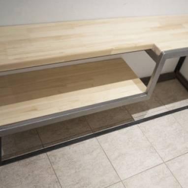 Полка-скамья для обуви ручной работы
