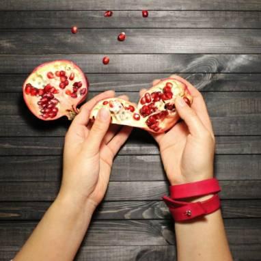 Браслет кожаный (red) ручной работы