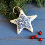 """елочная игрушка """"рождественская звезда"""""""