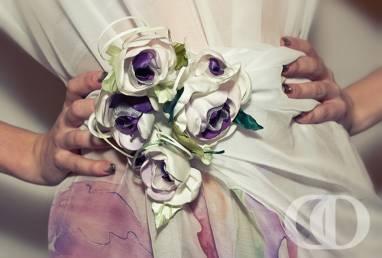 Cвадебные цветы для декора невесты из ткани ручной работы