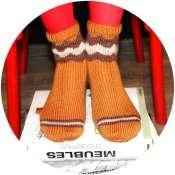 Носки вязанные с узором