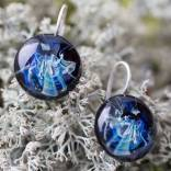 Серьги из стекла Космический цветок