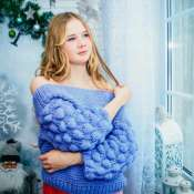 """свитер фиолетовый """"Колокольчик"""""""