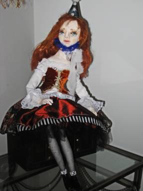 Авторская кукла Клоунесса Мэри ручной работы