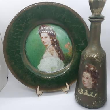 """Набор декоративной посуды """"Victorian Lady""""  ручной работы"""