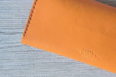 Кошелёк из натуральной кожи ручной работы