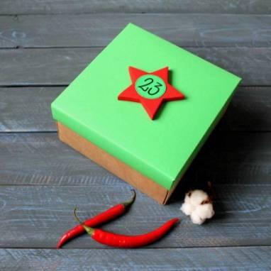 Коробка с зеленой крышкой для мужчин ручной работы