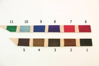 Ошейник кожаный (Purple) ручной работы
