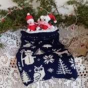 Подарок на Рождество, Новый Год. Мешочек для конфет