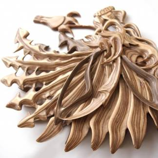 Деревянная Ключница Одуванчик