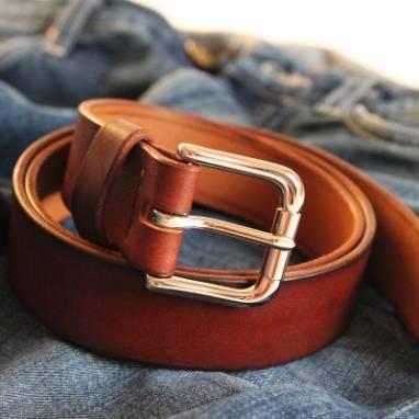 Ремень кожаный Urho (mahogany) ручной работы
