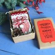 подарочный набор новогодний с варежками
