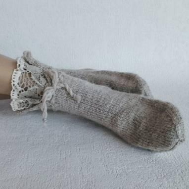 """Носки-домашняя обувь """" Кружевная сказка"""" Носки женские.  ручной работы"""