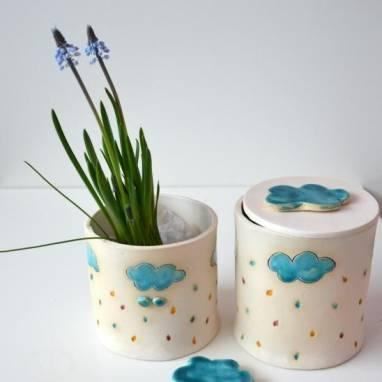 Комплект керамических вазочек ручной работы
